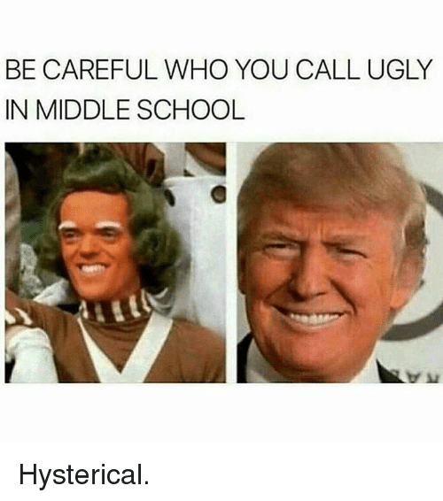 Memes, Be Careful Who You Call Ugly, and 🤖: BE CAREFUL WHO YOU CALL UGLY  IN MIDDLE SCHOOL Hysterical.