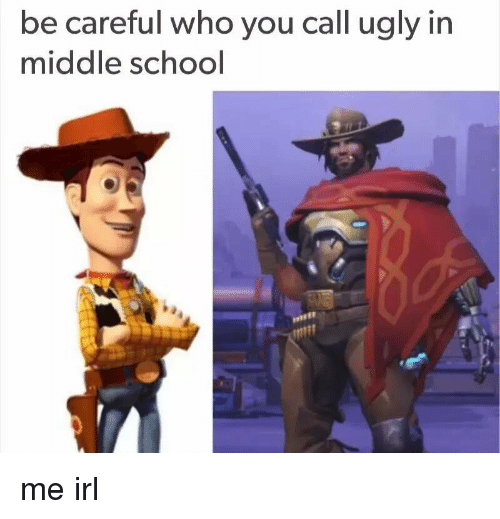 School, Ugly, and Be Careful Who You Call Ugly: be careful who you call  ugly in  middle school me irl