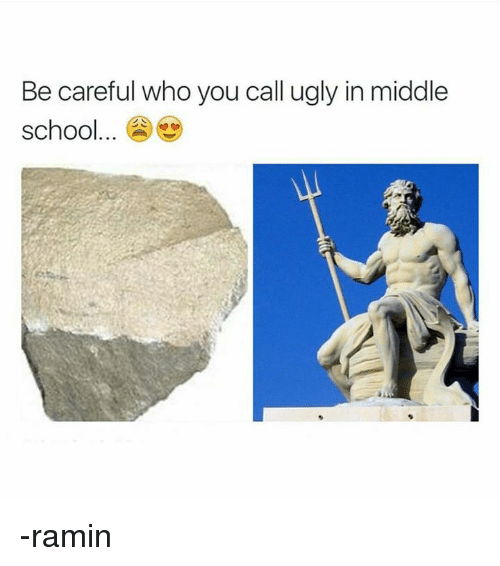 Memes, Ugly, and Be Careful Who You Call Ugly: Be careful who you call ugly in middle  school -ramin