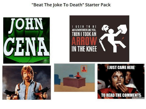 Beat The Joke To Death Starter Pack JOHN I USED TO BE AN