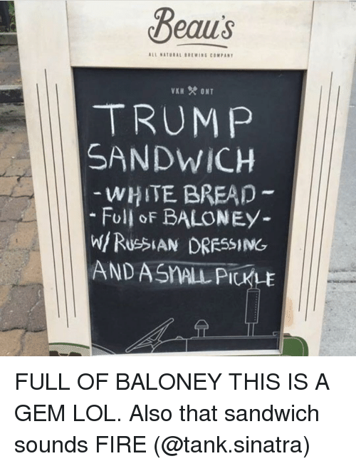 Image result for beau's trump sandwich