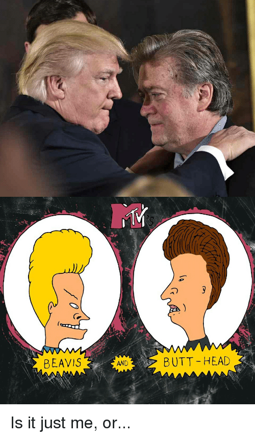Beavies: BEAVIS  AND  SCA  BUTT HEAD Is it just me, or...