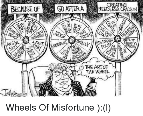 Misfortunately: BECAUSE OF  ANSAL  CREATING  GO AFTER A  NEEDLESS CHAOS IN  AAS  NTEL  THE ART OF  THE WHEEL Wheels Of Misfortune  ):(l)