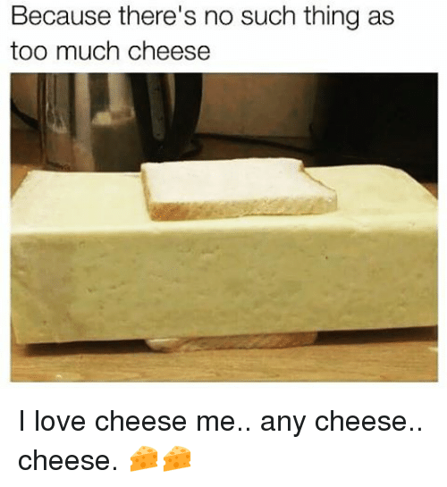Memes, 🤖, and Thing: Because there's no such thing as  too much cheese I love cheese me.. any cheese.. cheese. 🧀🧀