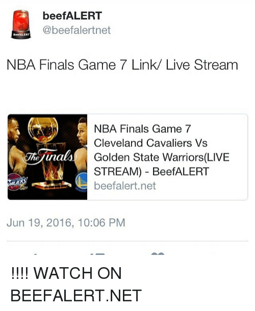 BeefALERT NBA Finals Game 7 Link Live Stream NBA Finals