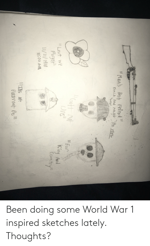 world war 1: Been doing some World War 1 inspired sketches lately. Thoughts?