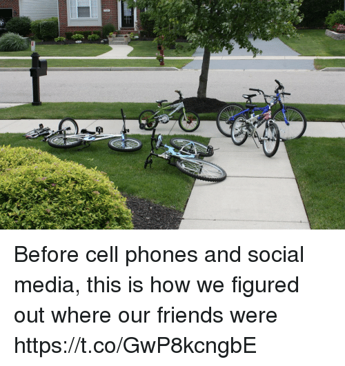 Before Cell Phones: Before cell phones and social media, this is how we figured out where our friends were https://t.co/GwP8kcngbE