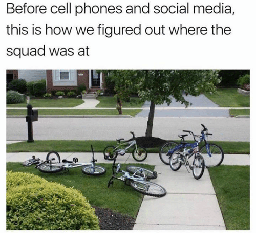 Before Cell Phones: Before cell phones and social media  this is how we figured out where the  squad was at