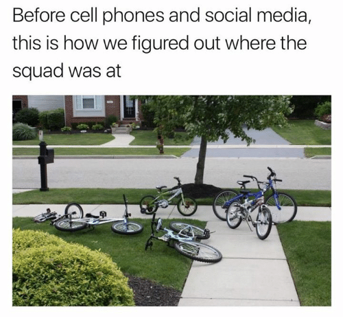 Before Cell Phones: Before cell phones and social media,  this is how we figured out where the  squad was at