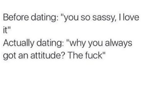 A new dating attitude