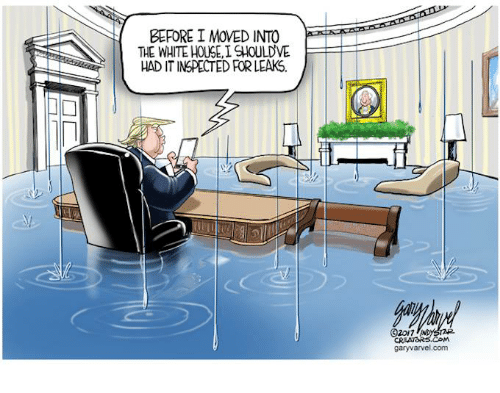 white houses: BEFORE I MOVED INTO  THE WHITE HOUSE, ISHOULDVE  HADITINSPECTED FOR LEAKS.  (320/7  CRAATORS.COM  garyvarvel.com