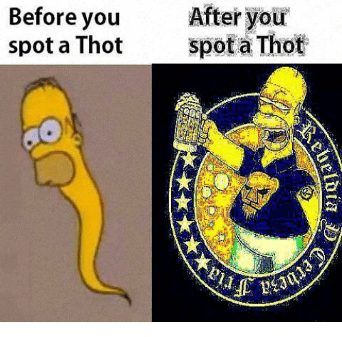 Thot Spot: Before you  After your  a Thot  spot a Thot