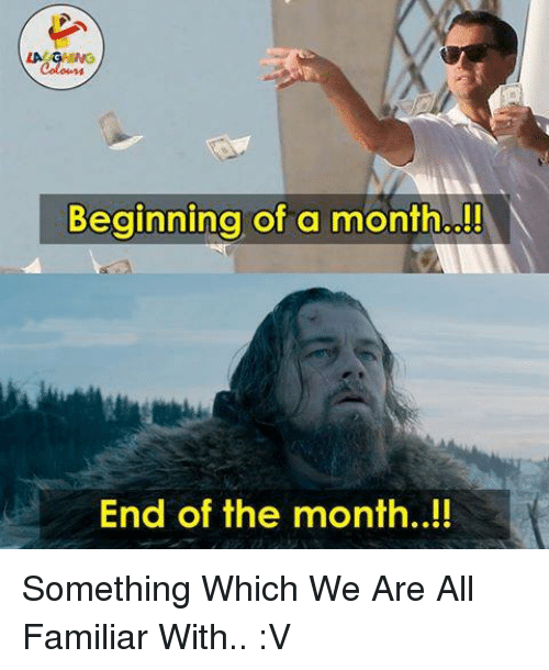 end of the month