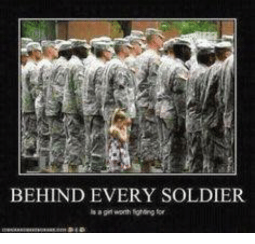 Military and Soldier: BEHIND EVERY SOLDIER