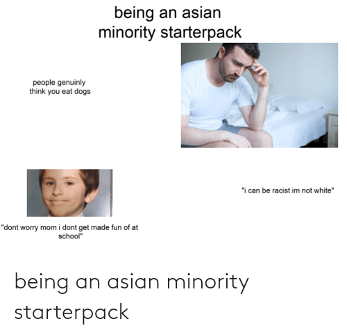 Asian: being an asian minority starterpack
