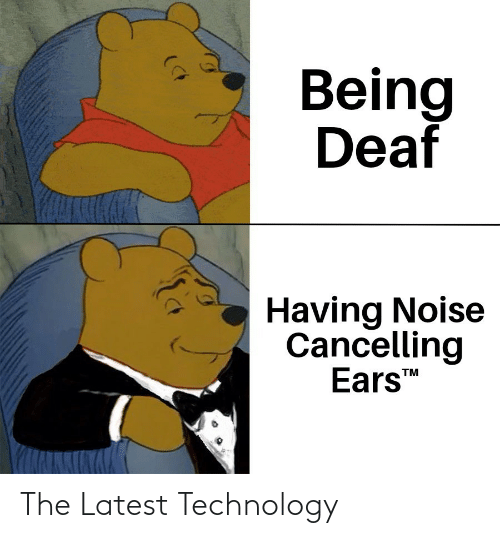 latest: Being  Deaf  Having Noise  Cancelling  Ears  TM The Latest Technology