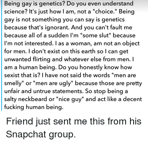 Science on gay choice or genetic