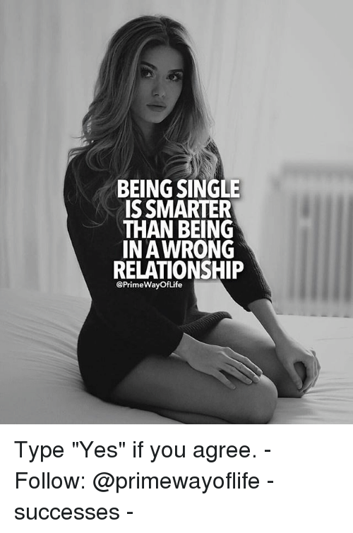 being single and in a relationship