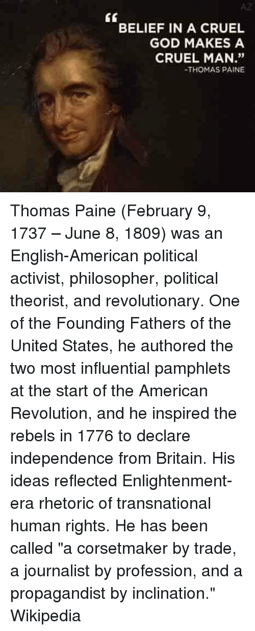 the propaganda and persuasion of thomas paine an english american political activist