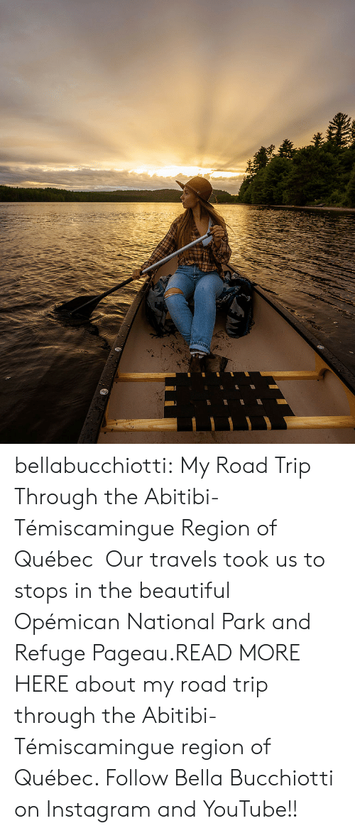 quebec: bellabucchiotti: My Road Trip Through the  Abitibi-Témiscamingue Region of Québec  Our travels took us to stops in the beautiful Opémican National Park and Refuge Pageau.READ MORE HERE about my road trip through the  Abitibi-Témiscamingue region of Québec.   Follow Bella Bucchiotti on Instagram and YouTube!!