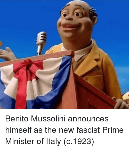 mussolini: Benito Mussolini announces himself as the new fascist Prime Minister of Italy (c.1923)