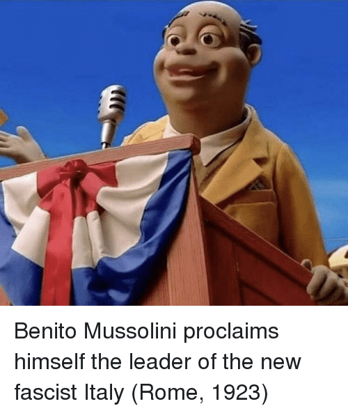 mussolini: Benito Mussolini proclaims himself the leader of the new fascist Italy (Rome, 1923)