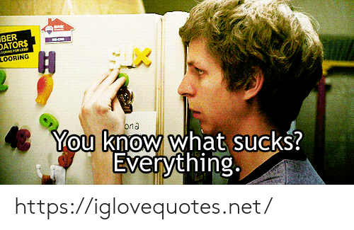 ona: BER  DATORS  H  LOORING  You know what sucks?  Everything  ona https://iglovequotes.net/