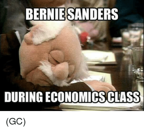 Bernie Sanders, Memes, and Bernie: BERNIE SANDERS  DURING ECONOMICS CLASS (GC)