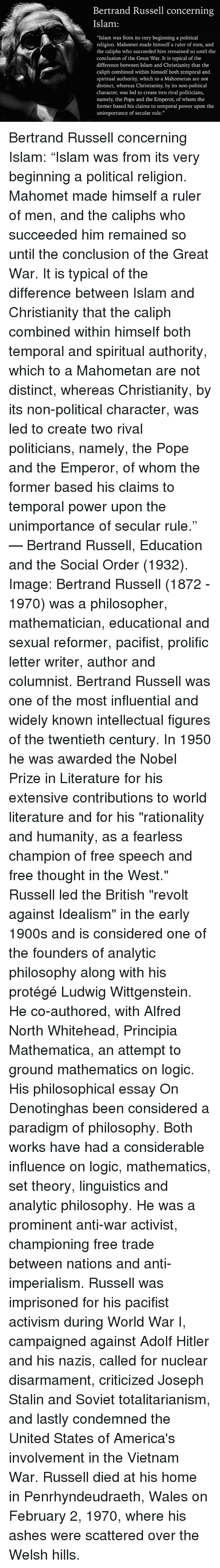 bertrand russell s revolt against neo hegelian idealism Foundations of analytical philosophy bertrand russell and ge to be classified as a member of the realist revolt against hegelian idealism.