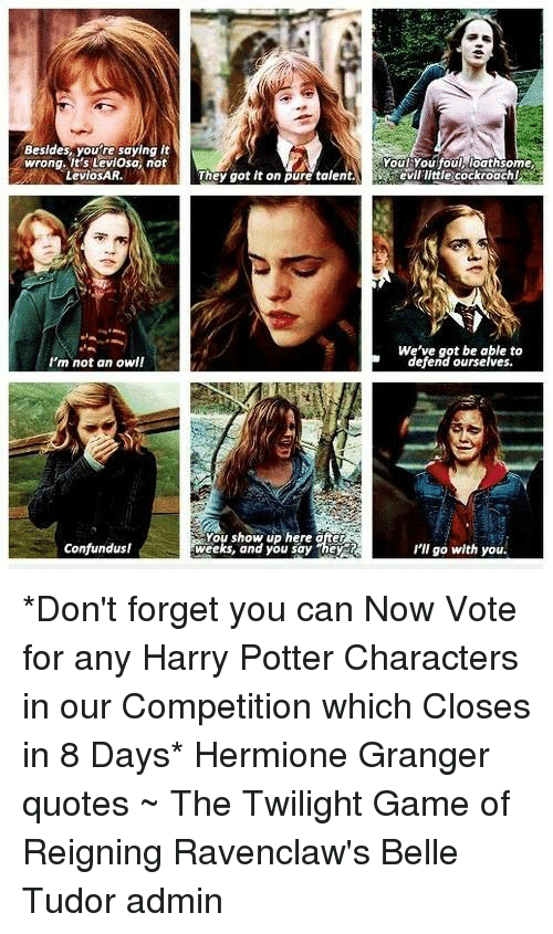 25 best memes about hermione granger quotes hermione