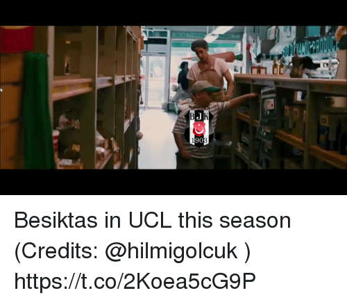 Memes, 🤖, and Ucl: Besiktas in UCL this season (Credits: @hilmigolcuk )  https://t.co/2Koea5cG9P