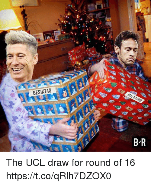 Memes, 🤖, and Ucl: BESIKTAS The UCL draw for round of 16 https://t.co/qRlh7DZOX0