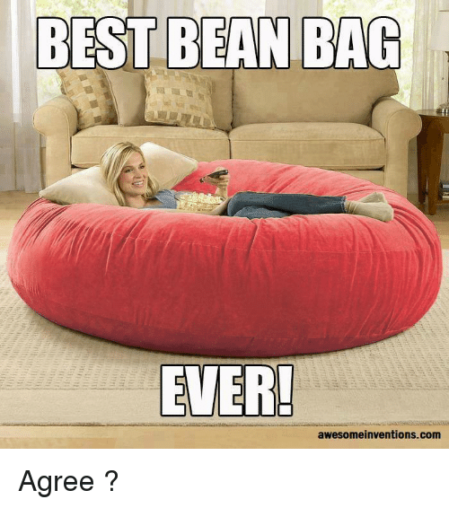 Bean Bagged: BEST BEAN BAG  EVER!  awesomeinventions.com Agree ?