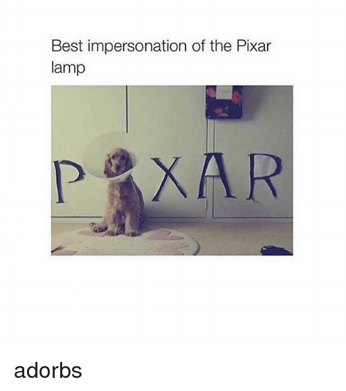 Best Impersonation of the Pixar Lamp Adorbs | Meme on SIZZLE