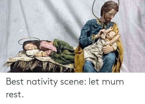 nativity: Best nativity scene: let mum rest.