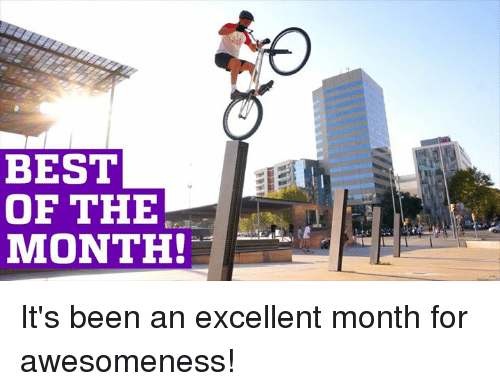 Memes, Best, and Excel: BEST  OF THE  MONTH! It's been an excellent month for awesomeness!