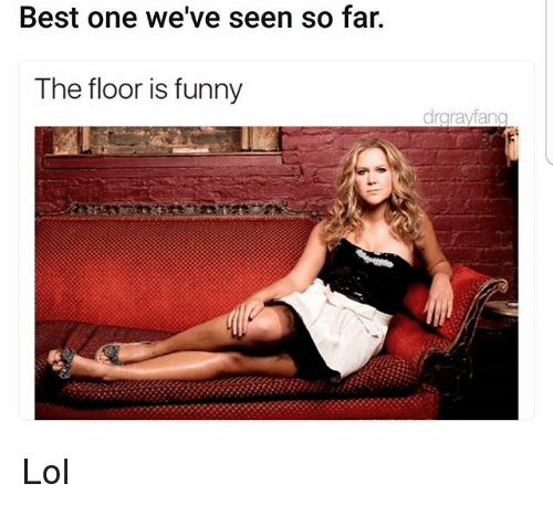 Funny, Lol, and Memes: Best one we've seen so far.  The floor is funny  drgrayfang Lol