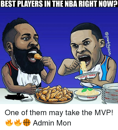 Memes, 🤖, and Mvp: BEST PLAYERS IN THENBA RIGHT NOW?  DOUBLE One of them may take the MVP! 🔥🔥🏀  Admin Mon