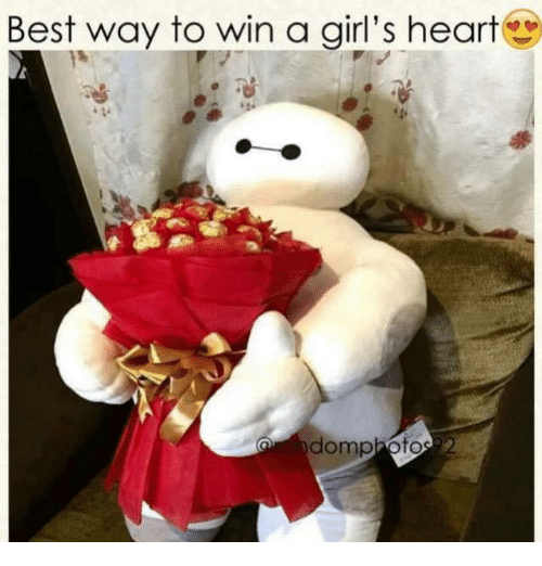 Girls, Memes, and Best: Best way to win a girl's heart  domphoto