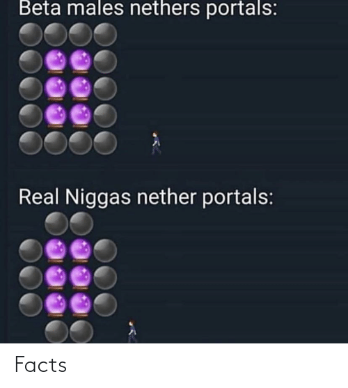 Nethers: Beta males nethers portals:  Real Niggas nether portals: Facts