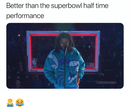spalding: Better than the superbowl half time  performance  wwim  SPALDING  @nbamemes 🤷‍♂️😂