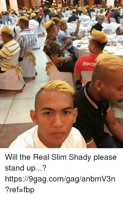 Slim Shady: BI Will the Real Slim Shady please stand up...? https://9gag.com/gag/anbmV3n?ref=fbp
