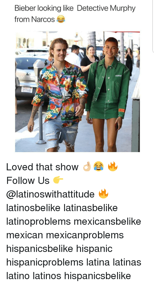 Narcos: Bieber looking like Detective Murphy  from Narcos Loved that show 👌🏼😂 🔥 Follow Us 👉 @latinoswithattitude 🔥 latinosbelike latinasbelike latinoproblems mexicansbelike mexican mexicanproblems hispanicsbelike hispanic hispanicproblems latina latinas latino latinos hispanicsbelike