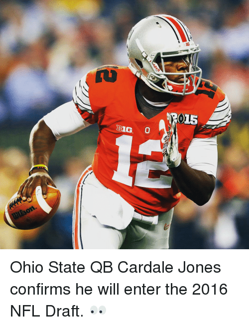 Nfl, NFL Draft, and Sports: BIG.  IG Ohio State QB Cardale Jones confirms he will enter the 2016 NFL Draft. 👀