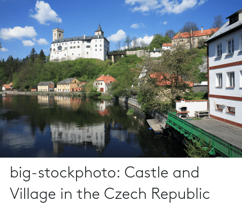 stockphoto: big-stockphoto:  Castle and Village in the Czech Republic