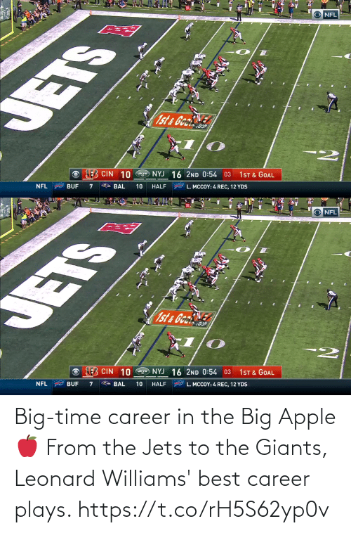 Leonard: Big-time career in the Big Apple 🍎  From the Jets to the Giants, Leonard Williams' best career plays. https://t.co/rH5S62yp0v
