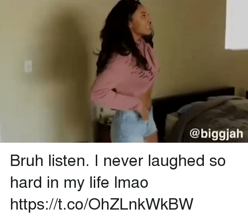 Blackpeopletwitter, Bruh, and Life: @biggjah Bruh listen. I never laughed so hard in my life lmao https://t.co/OhZLnkWkBW