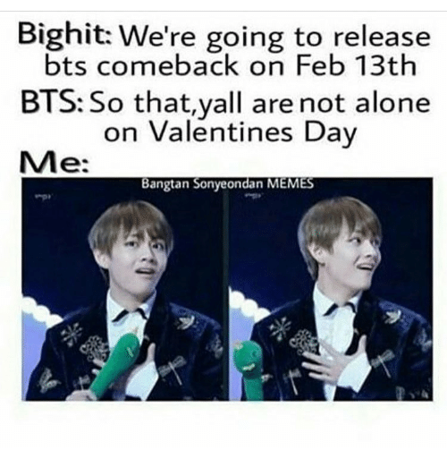 if you're spending valentine day alone meme - 25 Best Memes About Bangtan Sonyeondan