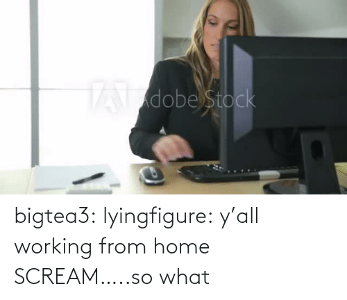 Scream: bigtea3: lyingfigure: y'all working from home SCREAM…..so what