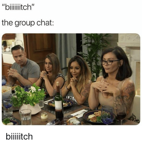 """Group Chat, Memes, and Chat: """"biiiitch""""  the group chat: biiiiitch"""
